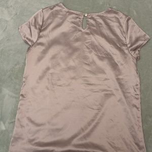 Gray Banana Republic Satin Top - Size S